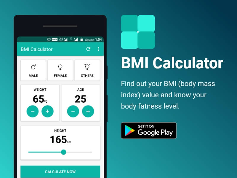 bmi calculator android app ui ux design